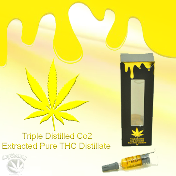 Triple Distilled Co2 Extracted Pure THC Distillate - BuyGreens.ca